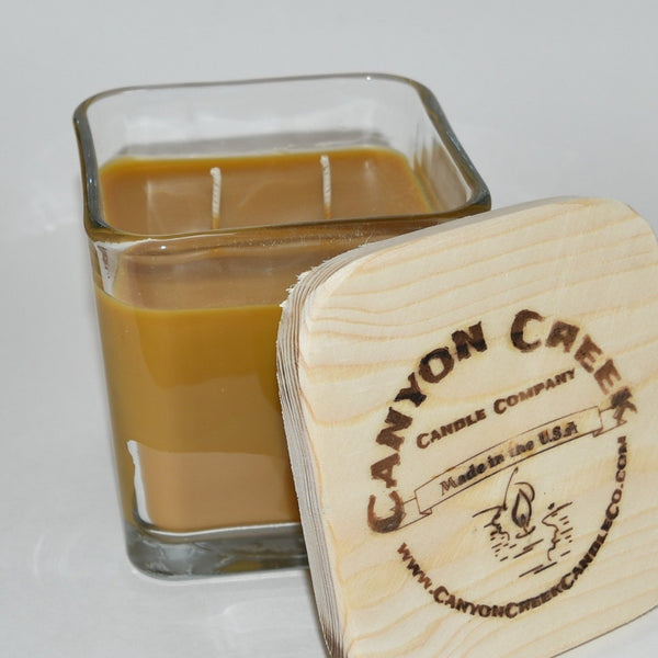 Cinnamon Vanilla 14oz cube jar candle