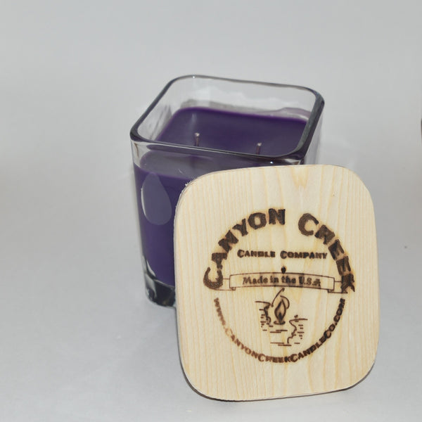 French Lilac 14oz cube jar candle