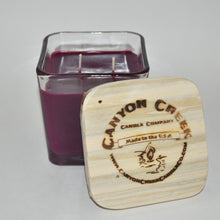 Load image into Gallery viewer, Huckleberry Wine 14oz cube jar candle