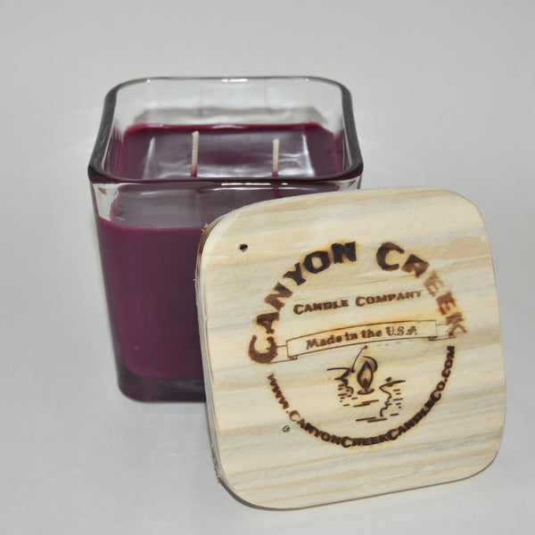 Huckleberry Wine 14oz cube jar candle