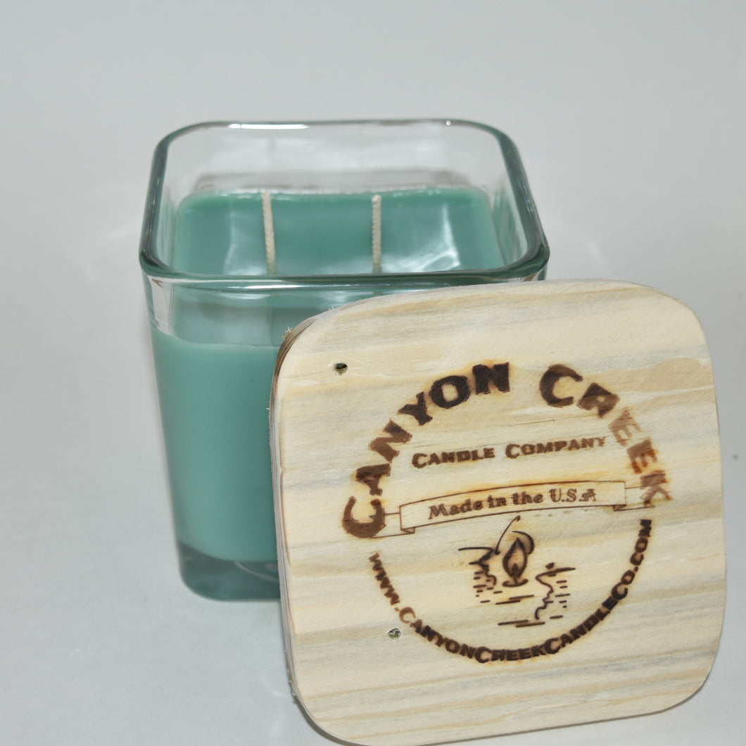 Lime & Cilantro 14oz cube jar candle