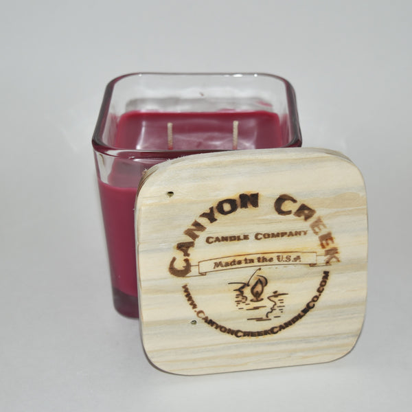 Wild Huckleberry 14oz cube jar candle