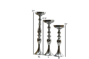 Candle Holder Stand Floral Vase Pillars Wedding Centerpieces
