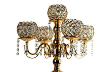 Load image into Gallery viewer, Candle Holder  Stand 5 Arm Crystal Bead Candelabra