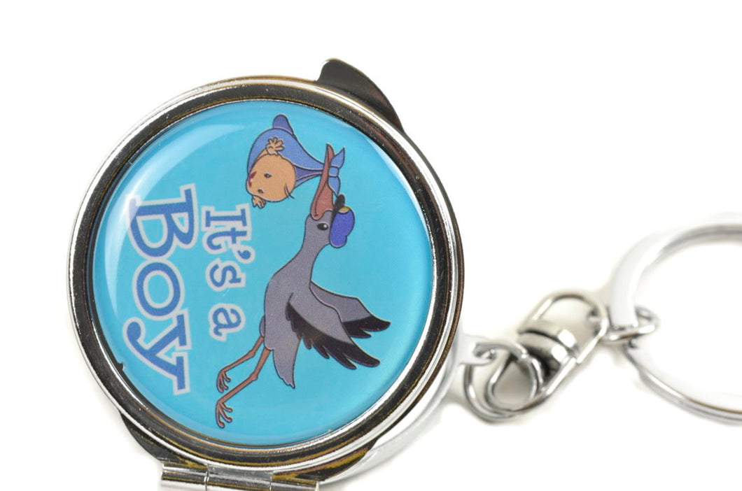 Mirror Keychain-Baby Shower Favors-Stork Figure Favors Gift