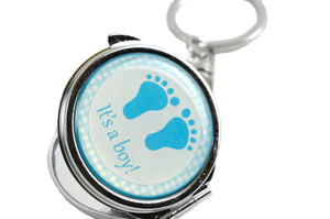Mirror Keychain-Baby Shower Favors-Baby Foot Figure.