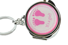 Load image into Gallery viewer, Mirror Keychain-Baby Shower Favors-Baby Foot Figure.