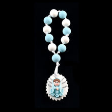 Load image into Gallery viewer, Baptism Rosary Favors Clod Porcelain Rosary