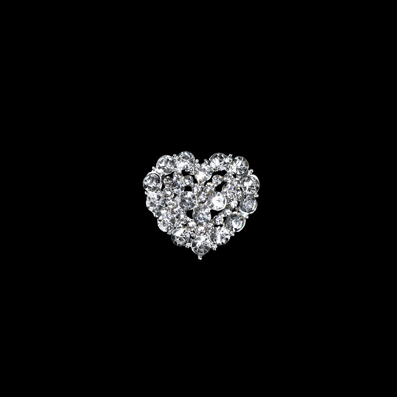Rhinestone Brooches For Crafts-Rhinestone Heart Brooches Pin