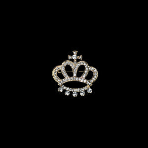 Rhinestone Brooches-Crown Rhinestone Brooch Pin