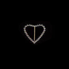 Load image into Gallery viewer, Rhinestone Brooches-Rhinestone Heart Buckle
