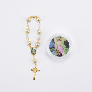 Rosary Favors For Baptism Crucifix Rosary Bracelet With Gift Box. Guardian Angel