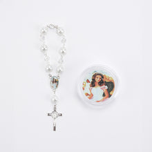 Load image into Gallery viewer, Wrist Rosary Crucifix Pearl Rosary-Gift Box-Quinceanera.