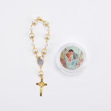 Load image into Gallery viewer, Wedding Rosary Crucifix Pearl Rosary Bracelet With Gift Box