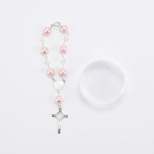 Load image into Gallery viewer, Rosary Favors For Baptism Crucifix Rosary Bracelet-Gift Box