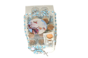 Rosary Cross Necklace-Baby Angel Rosary Necklace Catholic in Glass Jar