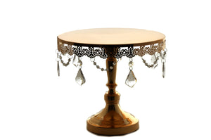 Wedding Cake Stand-Round Cake Stand Crystal Drop. 12 Inches