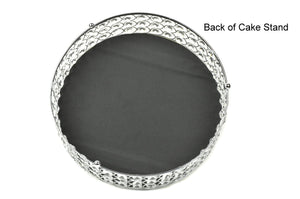 Cake Stand Mirror Top Crystal Bead Wedding Cake Stand 14 Inches