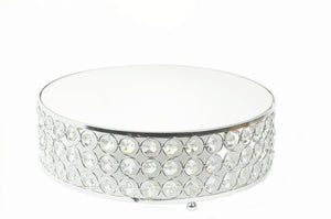 Cake Stand Mirror Top Crystal Wedding Cake Stand 12 Inches