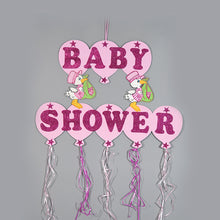 Load image into Gallery viewer, Baby Shower Banner Design Glitter Foam Stork Figurine.