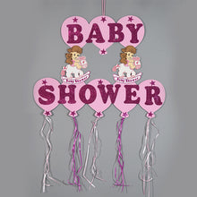 Load image into Gallery viewer, Baby Shower Banner Design Glitter Foam Rocking Horse Party Banner