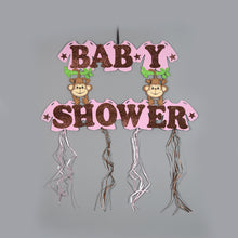 Load image into Gallery viewer, Baby Shower Banner Jungle Theme Baby Shower Banner