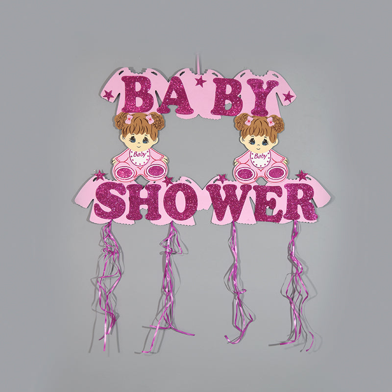 Baby Shower Banner-Glitter Foam Baby Party Banner