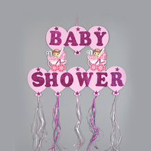 Load image into Gallery viewer, Baby Shower Banner Design Glitter Foam Baby Carriages