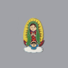 Load image into Gallery viewer, Baptism Favors-Small Guadalupe Foam Cutouts.
