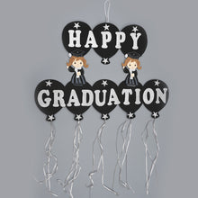 Load image into Gallery viewer, Happy Graduation Banner-Silver Foam Graduation Banner