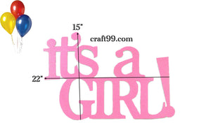 Baby Shower Banner-It's A Girl  Wall Hanging