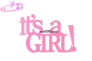 Baby Shower Banner-Large It's A Girl Party Banner.