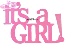 Load image into Gallery viewer, Baby Shower Banner-It's A Girl  Wall Hanging