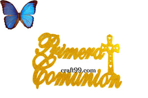 First Communion Banner Foam Cutouts XXL.