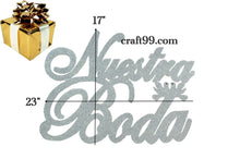 Load image into Gallery viewer, Wedding Banner Wall Décor Nuestra Boda Sign-XL.