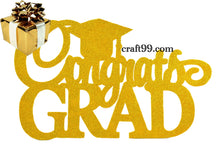Load image into Gallery viewer, Congrats Grad Banner Wall Decorations Cutouts-XL