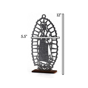 Baptism Centerpieces-Wooden Laser Cut Our Lady Guadalupe