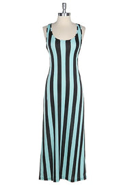 Mint Stripe Maxi Dress