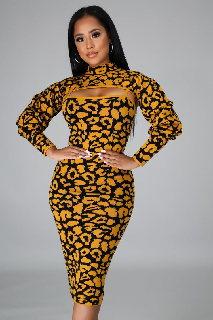 Leopard Babe Dress