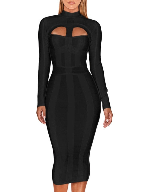 black babdage dress