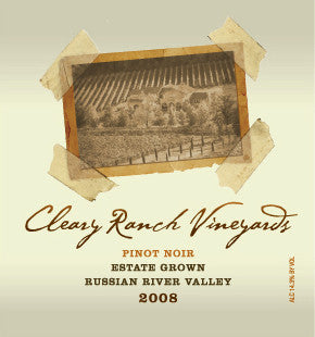 2008 CRV Pinot Noir - Estate Grown