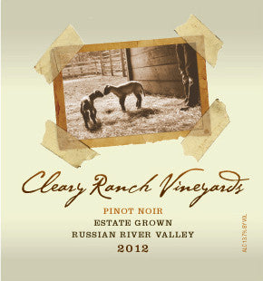 2012 CRV Pinot Noir - Estate Grown