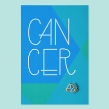 Load image into Gallery viewer, Cancer Zodiac Enamel Pin