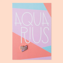 Load image into Gallery viewer, Aquarius Zodiac Enamel Pin