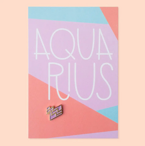 Aquarius Zodiac Enamel Pin