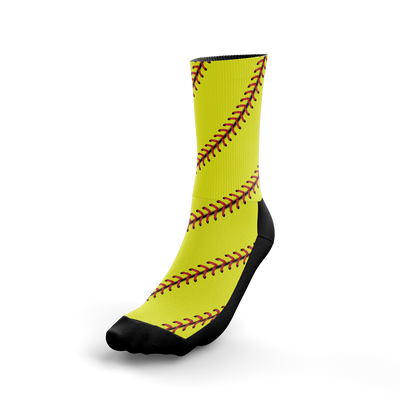 Softball Stitch Crew Socks