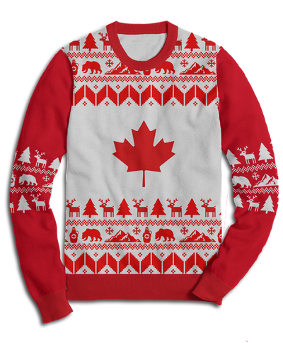 Ugly Canada Holiday Fleece Sweatshirt