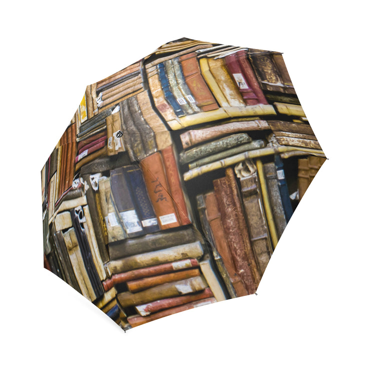 Dusty Bookshelves Foldable Umbrella
