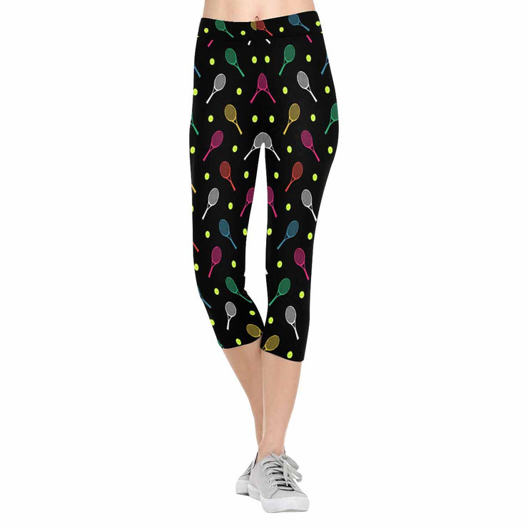 Colorful Tennis 3/4 Capri Leggings