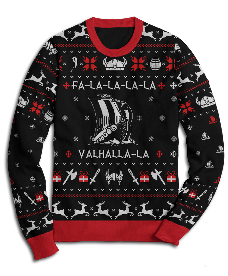 Valhalla Viking Christmas Fleece Sweatshirt